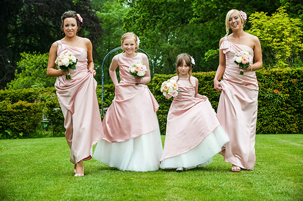 Wedding bridesmaids photograph