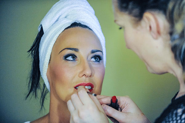 Wedding make-up preparation photograph